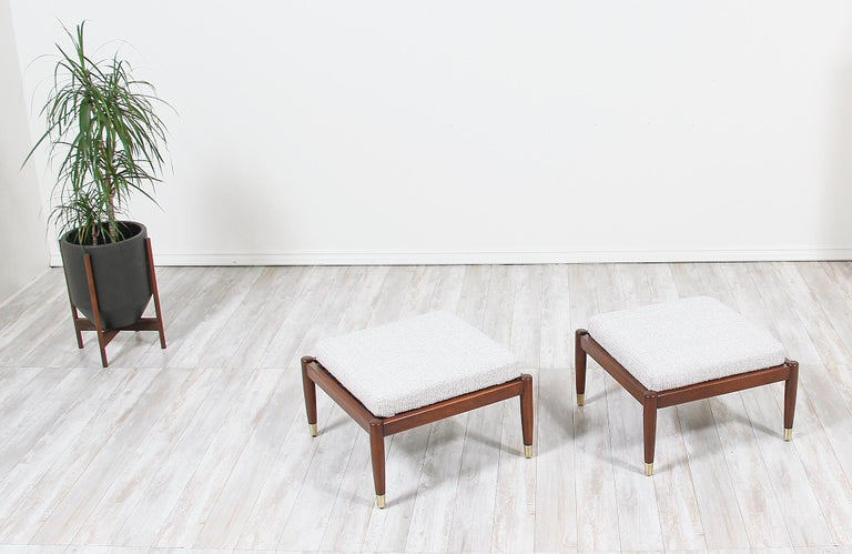Swedish Mid-Century Modern Stools by Folke Ohlsson for DUX For Sale