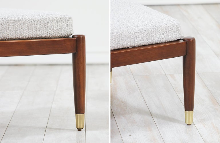 Fabric Mid-Century Modern Stools by Folke Ohlsson for DUX For Sale