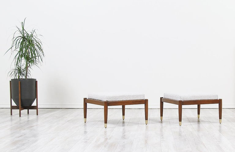 Mid-Century Modern Stools by Folke Ohlsson for DUX For Sale 2
