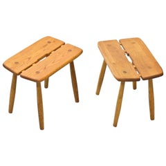 Mid-Century Modern Stools by Swedish, Carl Gustaf Boulogner