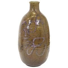Mid-Century Modern Studio Ceramic Glazed Vase