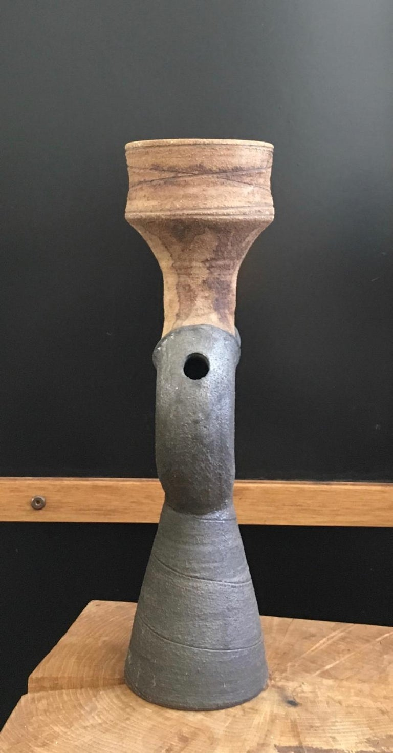 English Mid-Century Modern Studio Ceramic Sculpture or Vessel by Clive Brooker, England For Sale