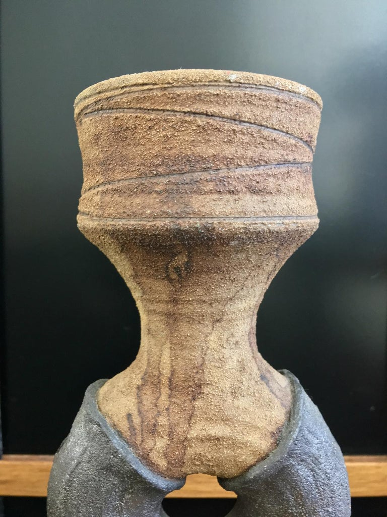 Mid-Century Modern Studio Ceramic Sculpture or Vessel by Clive Brooker, England In Good Condition For Sale In London, GB
