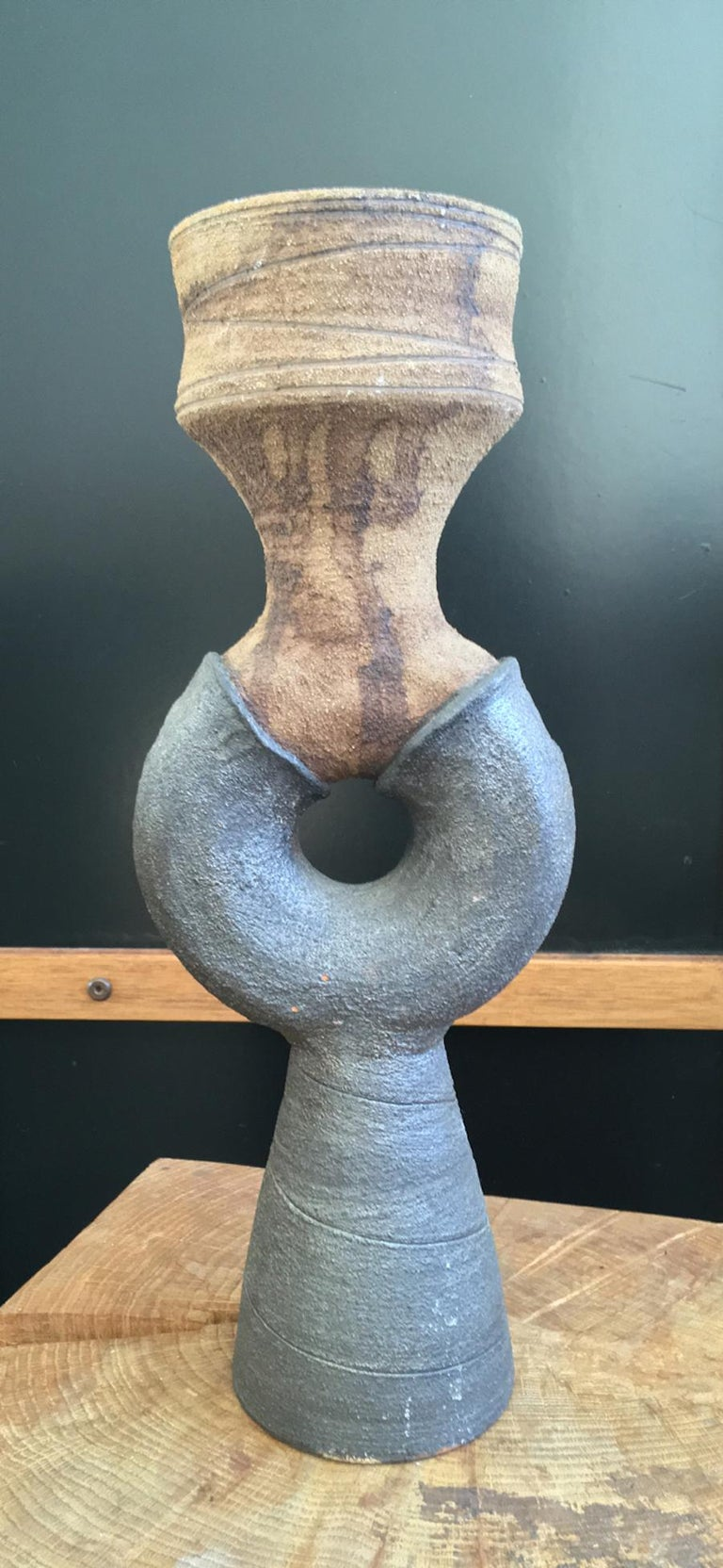 20th Century Mid-Century Modern Studio Ceramic Sculpture or Vessel by Clive Brooker, England For Sale