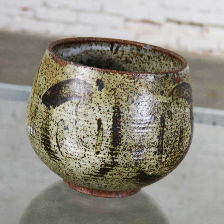 Glazed Mid-Century Modern Studio Ceramic Stoneware Pot by Mark Zamantakis For Sale