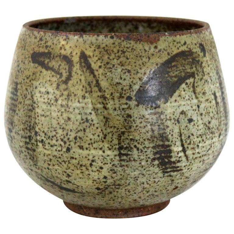 Mid-Century Modern Studio Ceramic Stoneware Pot by Mark Zamantakis For Sale