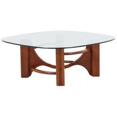 Mid-Century Modern Studio Craft Sculpted Coffee Table