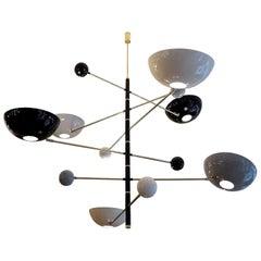 Mid-Century Modern Style Balanced Italian Chandelier