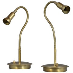 Vintage Mid-Century Modern Style Brass Table Lamps