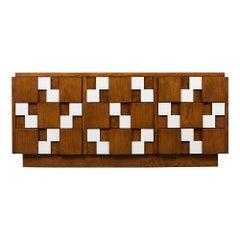 Mid-Century Modern Style Brutalist Mosaic Dresser