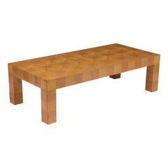 Mid-Century Modern Style Burled Coffee Table