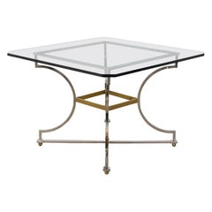 Mid-Century Modern Style Chrome Dining Table