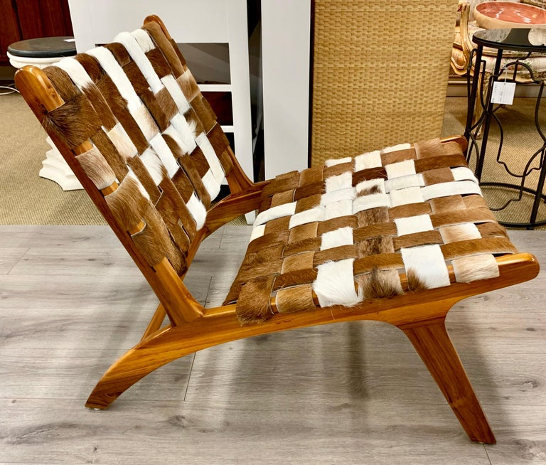 Outstanding Mid Century Modern Style Cowhide Lounge Chair Evergreenethics Interior Chair Design Evergreenethicsorg