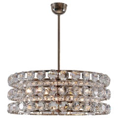 Mid-Century Modern Style Crystal Chandelier, Re Edition