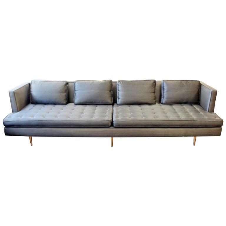 Mid-Century Modern Style Edward Wormley for Dunbar Chamberlain Model 4907a Sofa For Sale