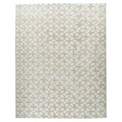 Mid-Century Modern Style Handknotted Rug with a Geometric Pattern