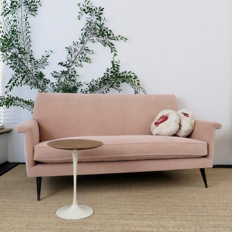 Mid-Century Modern Style Italian Loveseat by Martin and Brockett, Blush Pink For Sale 3