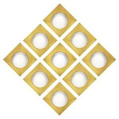 Mid-Century Modern Style Made of Brass Italian Convex Mirrors