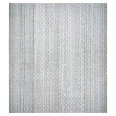 Mid-Century Modern Style Minimalist Charmo Flatweave Rug