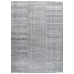 Mid-Century Modern Style Minimalist Flat-Weave Rug