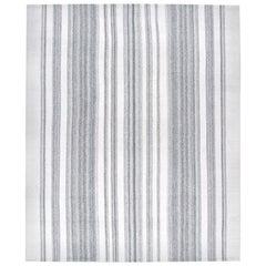 Mid-Century Modern Style Minimalist Flat-Weave Stripe Rug
