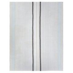 Mid-Century Modern Style Minimalist Pelas Flatweave Rug