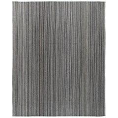 Mid-Century Modern Style Minimalist Persian Damavand Flat-Weave Rug
