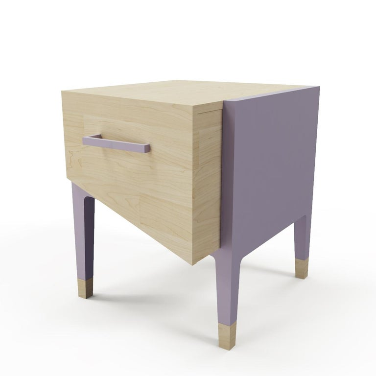 Mid-Century Modern Style Nightstand or End Table in Solid Wood For Sale 3