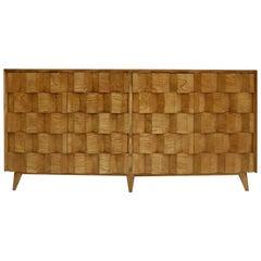 Mid-Century Modern Style Oakwood Italian Sideboard Designed by L. A. Studio