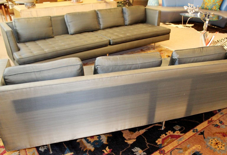 Mid-Century Modern Style Pair Wormley for Dunbar Chamberlain Model 4907a Sofas In Good Condition In Keego Harbor, MI