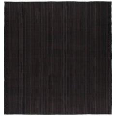Mid-Century Modern Style Persian Pelas Minimalist Flat-Weave Rug