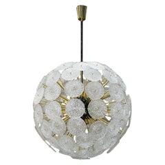 "Mid-Century Modern Style ""Sputnik"" Murano Glass and Brass Italian Pending Lamp"
