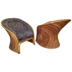 Mid-Century Modern Style Wicker Chairs