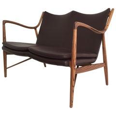 Mid-Century Modern Style Zebra Wood Settee
