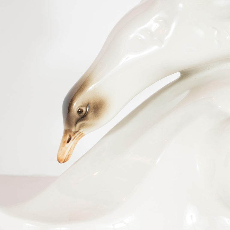 Mid-Century Modern Stylized Seagull Porcelain Decorative Object by Royal Dux For Sale 2