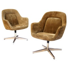 Mid-Century Modern Suede Side / Guest / Desk Chairs by Max Pearson for Knoll