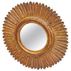 Mid-Century Modern Sunburst Wall Mirror, circa 1960