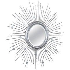 Vintage Mid-Century Modern Sunburst Mirror