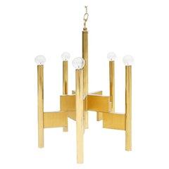 Mid-Century Modern Suspension Lamp Designed by Gaetano Sciolari