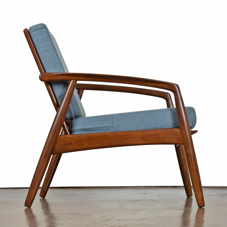 Danish Mid-Century Modern Svend Madsen Beech Wood Lounge Chair For Sale