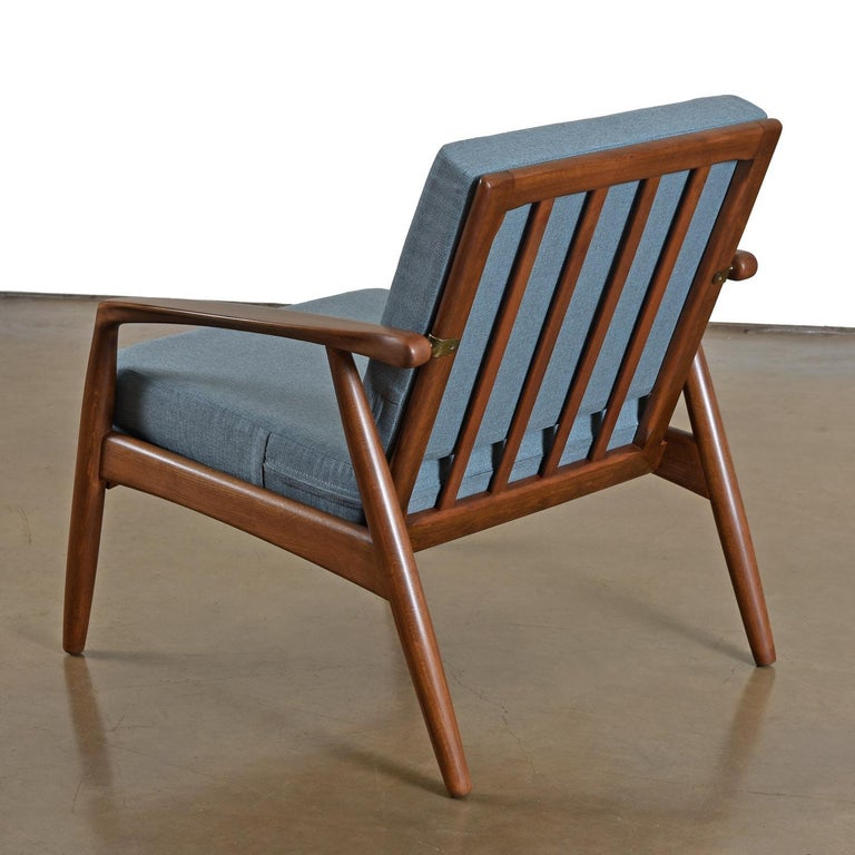 Mid-Century Modern Svend Madsen Beech Wood Lounge Chair In Excellent Condition For Sale In Saint Petersburg, FL