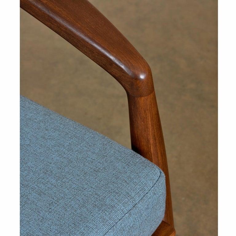 Mid-Century Modern Svend Madsen Beech Wood Lounge Chair For Sale 1