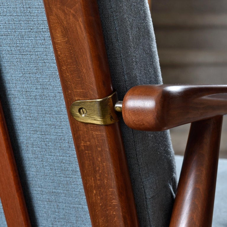 Mid-Century Modern Svend Madsen Beech Wood Lounge Chair For Sale 2