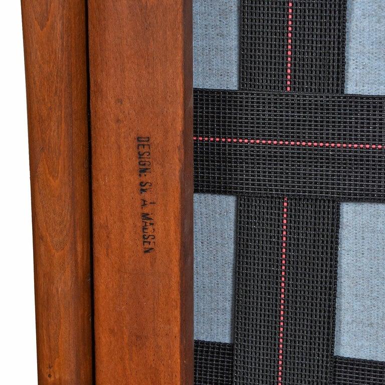 Mid-Century Modern Svend Madsen Beech Wood Lounge Chair For Sale 3