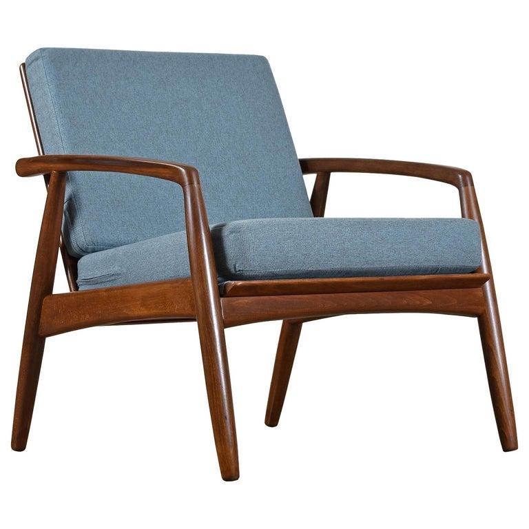 Mid-Century Modern Svend Madsen Beech Wood Lounge Chair For Sale