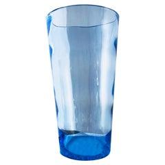 Mid-Century Modern Swedish Art Glass Monumental Waved Glass Vase