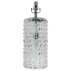 Mid-Century Modern Swedish Clear Glass Table Lamp