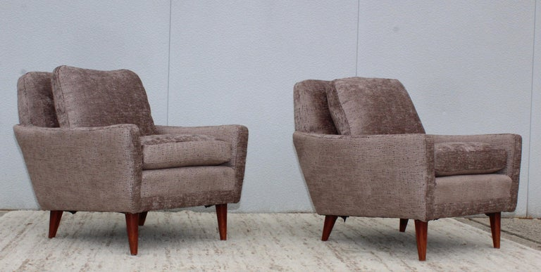 Mid-20th Century Mid-Century Modern Swedish Lounge Chairs by DUX