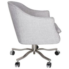 Mid-Century Modern Swivel Desk Chair Designed by Ward Bennett