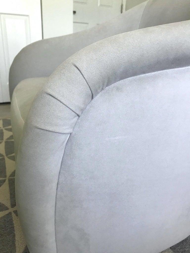 Mid-Century Modern Swivel Lounge Chair in Grey Velvet by Milo Baughman, 1970s For Sale 4